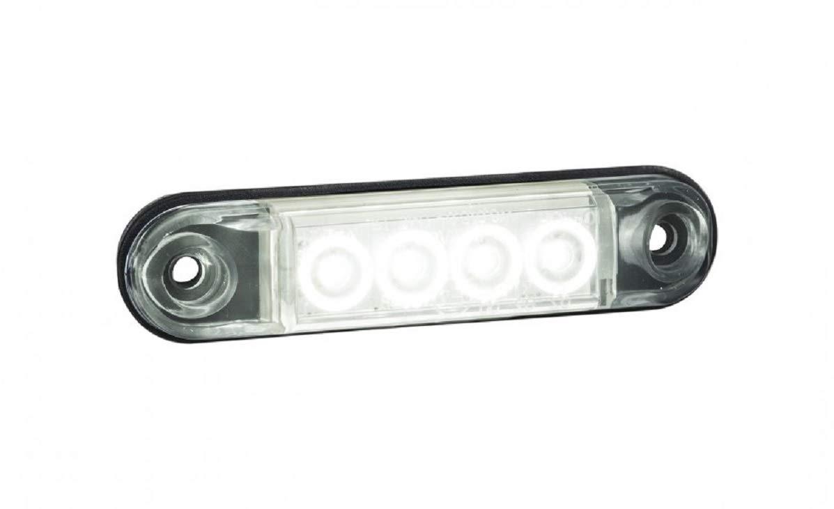 4 luci LED anteriori bianche laterali 12//24 V per camion rimorchio telaio Scania MAN Krone