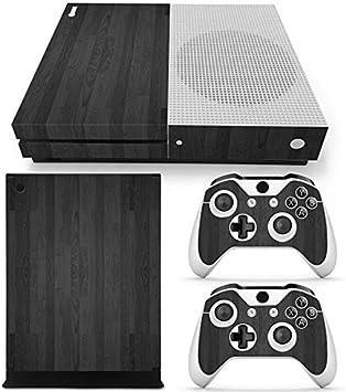 Morbuy Xbox One S Skin Vinly Pegatinas Protective Consola Sticker Decal + 2 Controlador Skins Set (Wood Black): Amazon.es: Electrónica