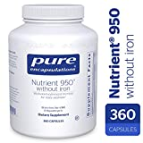 Pure Encapsulations – Nutrient 950 without Iron – Hypoallergenic Multi-vitamin/Mineral Formula for Optimal Health* – 360 Capsules For Sale