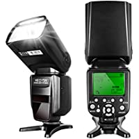 Heoysn Flash Speedlite for Canon DSLR Camera with E-TTL HSS 1/8000S Flash, Auto Focus Function, Wireless Trigger Slave and Hot Shoe