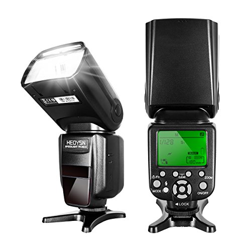 Autofocus 1 Flash (Heoysn Flash Speedlite for Canon DSLR Camera with E-TTL HSS 1/8000S Flash, Auto Focus Function, Wireless Trigger Slave and Hot Shoe)