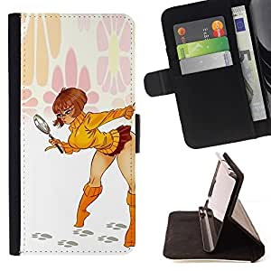 Momo Phone Case / Flip Funda de Cuero Case Cover - Jupe Bébé Jambes Femme Lady - Sony Xperia M5