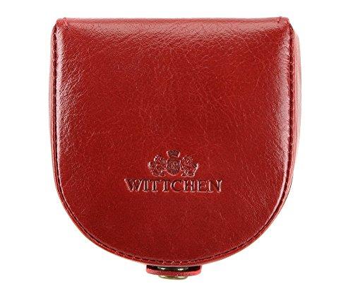 Portefeuille Wittchen, Rouge, Taille: 8x7.5 Cm - Matière: Cuir Grain 21-2-156-3