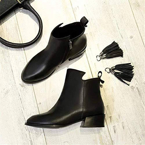 Zipper Eu Nere Eu Stick Boots 37 nero And Short Nere Deed Tips 35 Heel Scarpe Ladies qZawvwt