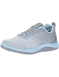 Reebok Women's Print Run Prime ULTK Running Shoes, Cloud Grey/Meteor Grey/Fresh Blue
