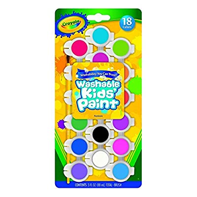 Crayola Washable Kid's Paint Assorted Colors 18 Each (Pack of 3): Toys & Games