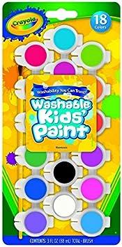 Crayola Washable Kids Paint Multicolour Pack of 3 big bottles