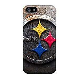 Bumper Hard Phone Cases For Iphone 5/5s With Support Your Personal Customized High-definition Pittsburgh Steelers Image AnnaDubois