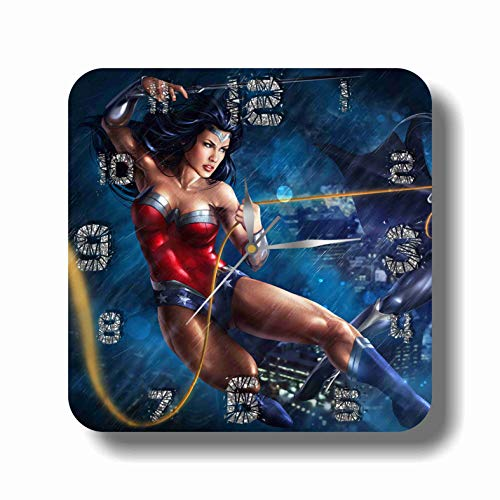 Art time design studio FBA 1 Wonder Woman Wall Clock Quiet Sweep Movement Decorative Battery Operated 11,8 Inch – for Devoted Fans of DC -