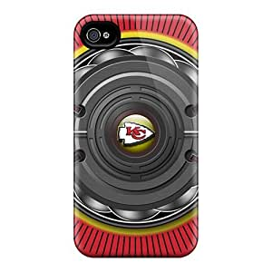 Tpu Fashionable Design Kansas City Chiefs Industrial Element Rugged Case Cover For Iphone 4/4s New