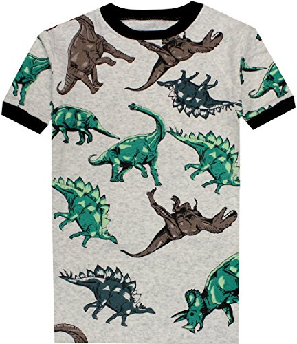 Boys Dinosaurs Pajamas Summer Children Cartoon Clothes Kids 2 Pieces Short Set Size 5 Years by CoralBee (Image #2)