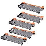 5 High Yield ShopCartridges ® Toner Cartridges TN-660 (TN660) Compatible with Brother TN-660 Black HL-L2300D HL-L2305W HL-L2320D HL-L2340DW HL-L2360DW HL-L2380DW DCP-L2520DW DCP-L2540DW MFC-L2700DW MFC-L2720DW MFC-L2740DW