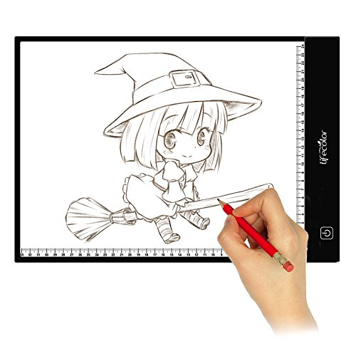 Light Box Tracing, Lifecolor A4 LED Light Pad Dimmable Brightness Artcraft Tracer for Artists Drawing Sketching Animation by lifecolor