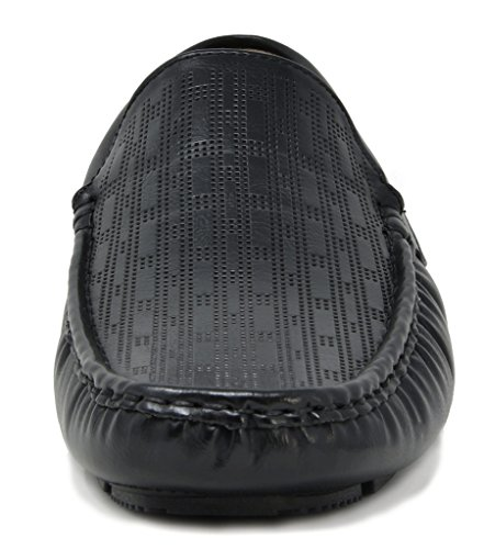 BRUNO MARC NEW YORK Men's PHILIPE-02 Black Penny Loafers Moccasins Shoes Size 7.5 M US by BRUNO MARC NEW YORK (Image #4)