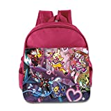 Kids Pokemon School Backpack Fashion Baby Boys Girls School Bag Pink
