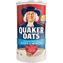 Quaker Oats Quick 1-Minute Oatmeal, Breakfast Cereal, 18oz Canister
