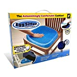 #4: Egg Sitter Gel Flex Seat Cushion by BulbHead, Breathable Honeycomb Design Absorbs Pressure Points