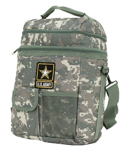 Us Army Ice - Insulated Lunch Bag Cooler 12 Can Shoulder Strap Dual Compartment Official U.s.Army Camo Cooler Support Our Troops!