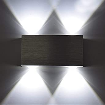 Bon Louvra Applique Murale LED Intérieure 4W MINI Lampe Originale Moderne  Créatif Éclairage Design Lumiaire Décorative Aluminium