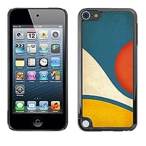 [Neutron-Star] Snap-on Series Teléfono Carcasa Funda Case Caso para Apple iPod Touch 5 [Amarillo Azul pastel abstracta minimalista]
