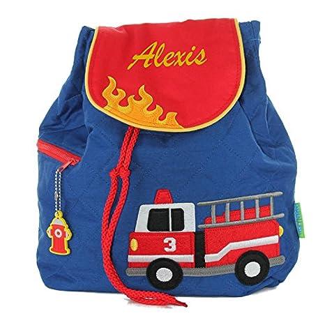 ae97931581 Zaino pompieri personalizzato con nome ricamato: Amazon.it ...