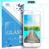 FENGJ iPhone 8 iPhone 7 Screen Protector Glass 2.5D High Definition Ultra and 3D Touch Accuracy Full Coverage 2 Pack Premium Tempered Glass Compatible with Apple iPhone 8 7 6s 6 - Transparent