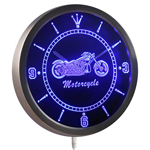 ADVPRO nc0355-b Motorcycle Bike Sales Services Neon Sign LED Wall Clock