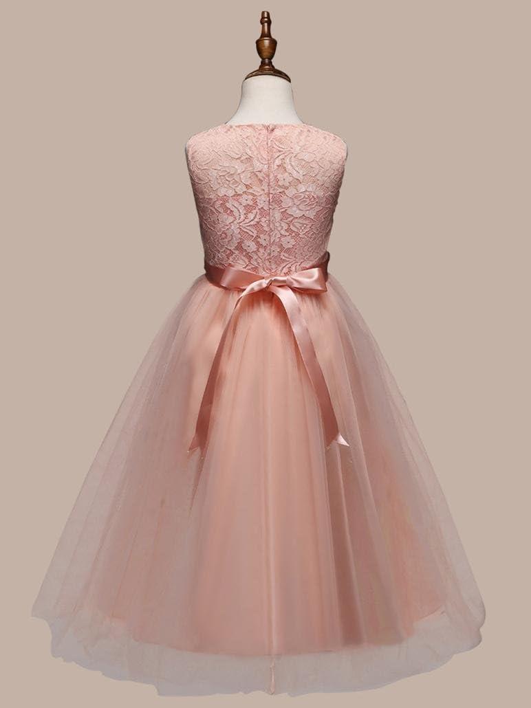 Beikoard -30/% elegante per matrimonio da principessa damigella abito da ragazza elegante e floreale vacanza