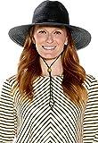Coolibar UPF 50+ Women's Tempe Sun Hat - Sun Protective (One Size- Black)