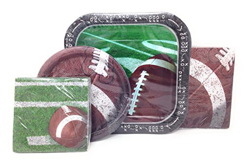 Touchdown Tailgating Football Party Plates and Napkins for 14