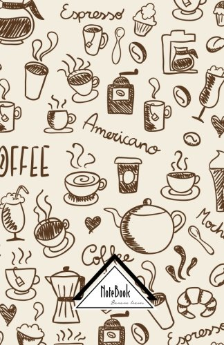 """Notebook Journal Dot-Grid,Graph,Lined,No lined : I love Coffee Vintage Doodles: Small Pocket Notebook Journal Diary, 120 pages, 5.5"""" x 8.5"""" PDF"""