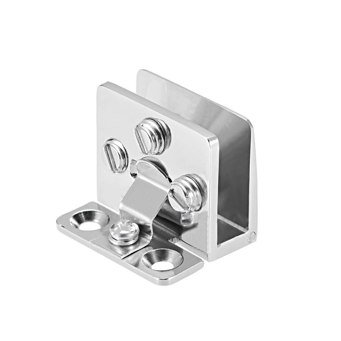 for 5-8mm Glass Thickness 4Pcs uxcell Glass Door Hinge Cupboard Showcase Cabinet Door Hinge Glass Clamp,Zinc Alloy