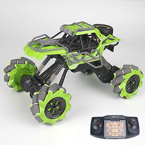 RC Drift Stunt CAR Remote Control Truck 4WD – 1:12 RTR RC Crawlers Off Road RC CAR Dancing with Lights Green Electric Vehicle for Adults