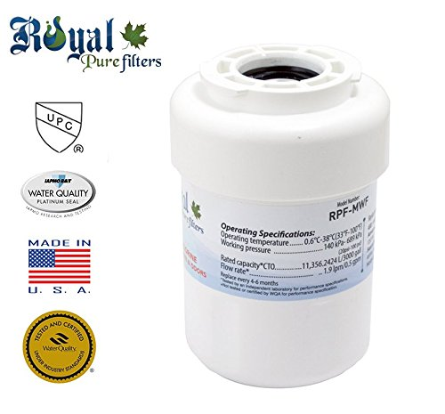 GE MWF, MWFA, GWF, GWFA, GWF01, 46-9991, 46-9996, 469991, 469996, Amana, SMART WATER SYSTEM replacement water filter by   (1 pack) - Royal Pure Filters RPF-MWF