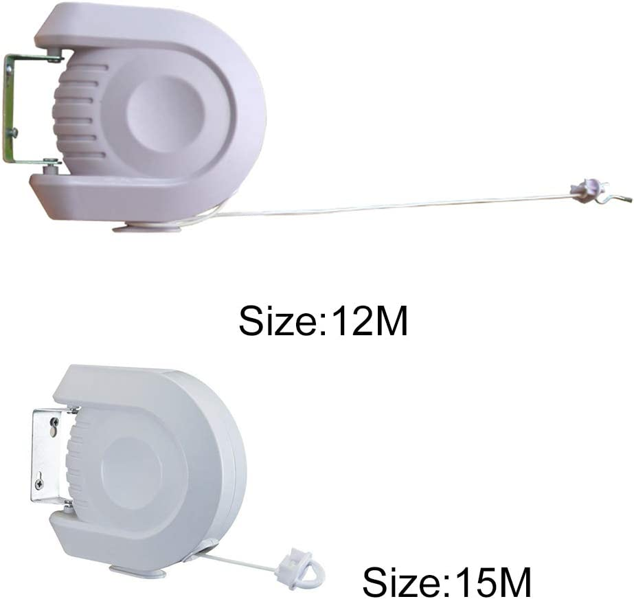 Peu encombrant /Étendoir Serviette Simple pour int/érieur et ext/érieur Corde Extensible Show 12m FADDR Corde /à Linge pour Salle de Bain V/êtements de Linge Support Mural 12 m