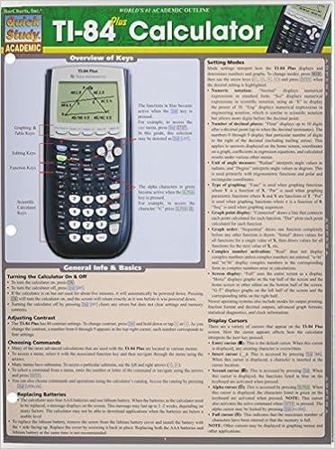 Ti 84 plus calculator quick study academic inc barcharts ti 84 plus calculator quick study academic inc barcharts 9781423221654 amazon books ccuart Image collections