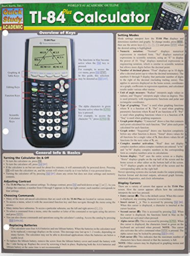 Ti 84 Plus Calculator (Quick Study Academic) cover