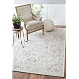 Nuloom 7' 6 x 9' 6 Hand Looped Krause Rug in Light Gray
