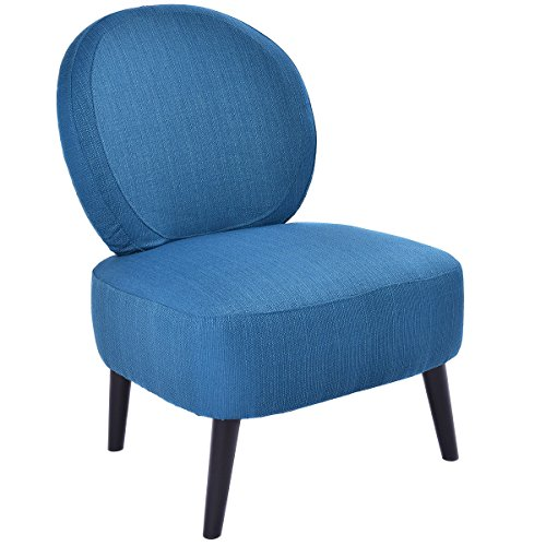 Giantex Armless Accent Chair ,Round Back Dining Chair ,Home Living Room Furniture Blue
