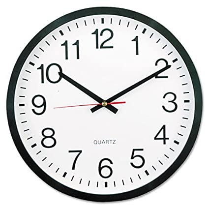 universal unv10431 round wall clock 11 12 - Kitchen Clock