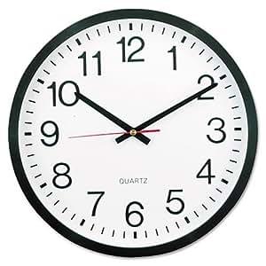 Amazoncom Universal UNV10431 Round Wall Clock 1112 Black Home