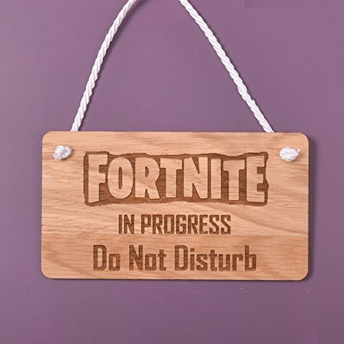 B-Creative - Placa de madera para colgar - FORTNITE IN ...