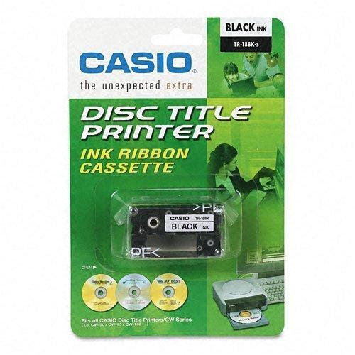 Casio Ink Ribbon Cassette (Black TR-18BK Thermal Ink Ribbon Cassette Cartridge - 2 Packs)