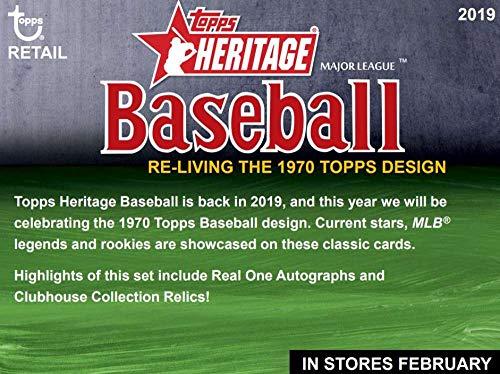 2019 Topps Heritage Baseball Blaster 16 Box Case (8 Packs/9 Cards)