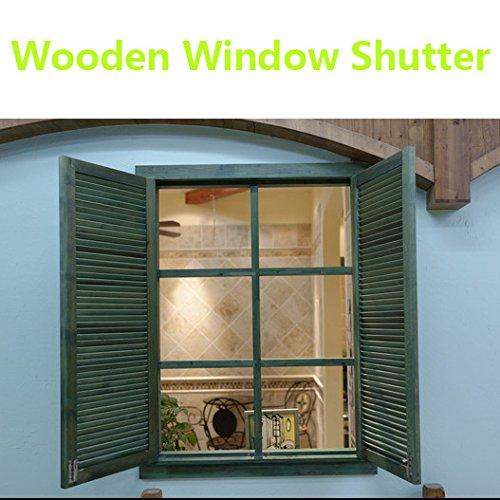 mecfocus Window Shutters, Vinyl, Bottle-Green