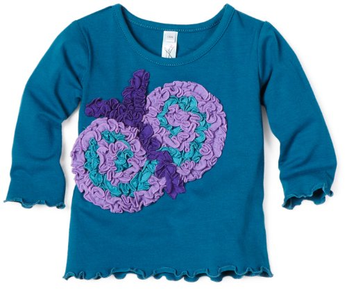 Love U Lots Baby Girls' Ruffle Butterfly Tee
