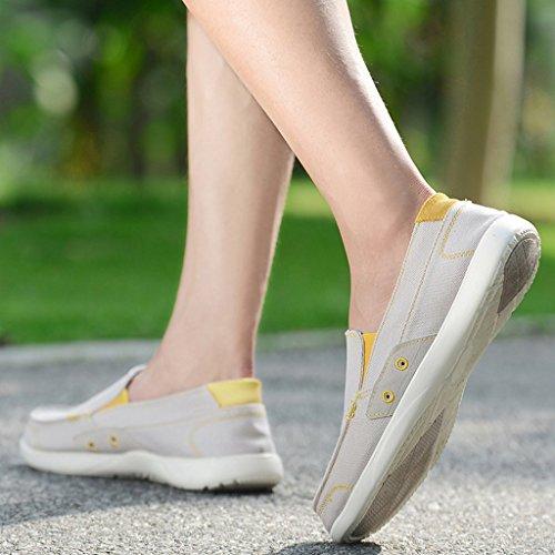 Salvajes Verano Nuevos Yananhome Gray Estilo A Tienden Tablero Del Zapatos Hombres Hombre alpargatas Ocasionales De Lona Para Los Respirables zx6zqn48w