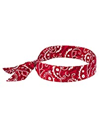Chill-Its 6700 Evaporative Polymer Cooling Bandana - Tie Closure, Red Western