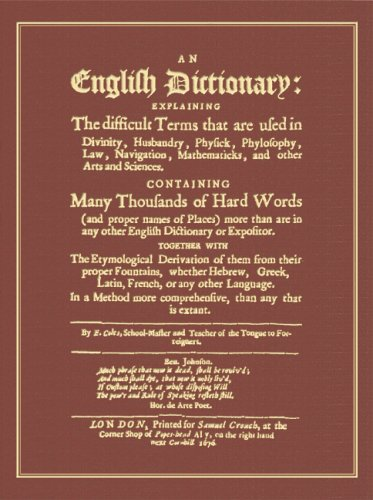 An English Dictionary: Explaining The Difficult Terms That Are Used by The Lawbook Exchange, Ltd.