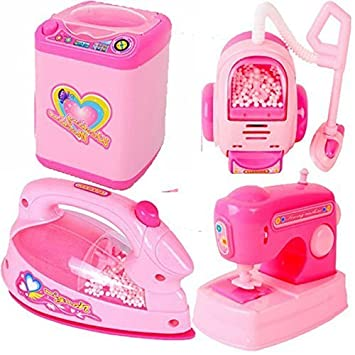 Buy Saisan 4 In 1 Mini Household Play Kitchen Set Pink Online At